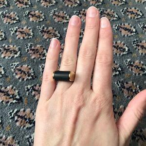 J. Crew Black & Gold Statement Cocktail Ring